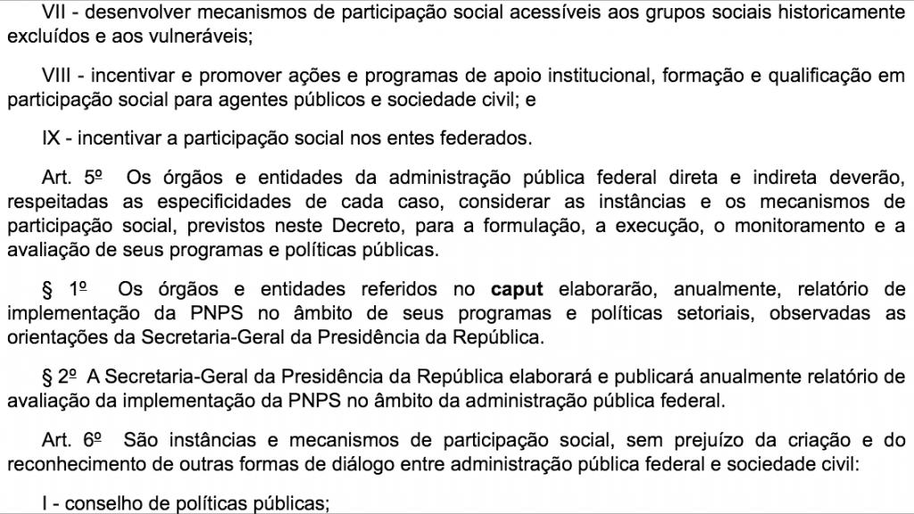 Art. 5.º do Decreto 8.243/2014