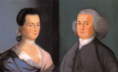 John e sua esposa Abigail