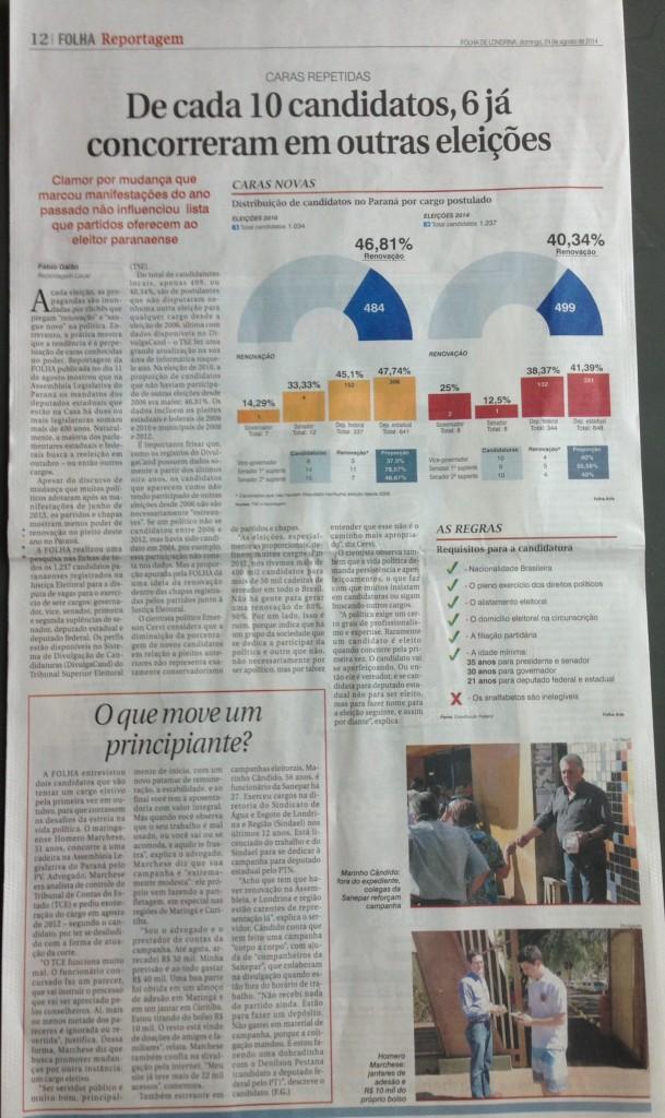 Página 12 da edição de domingo da Folha, 24/08/14