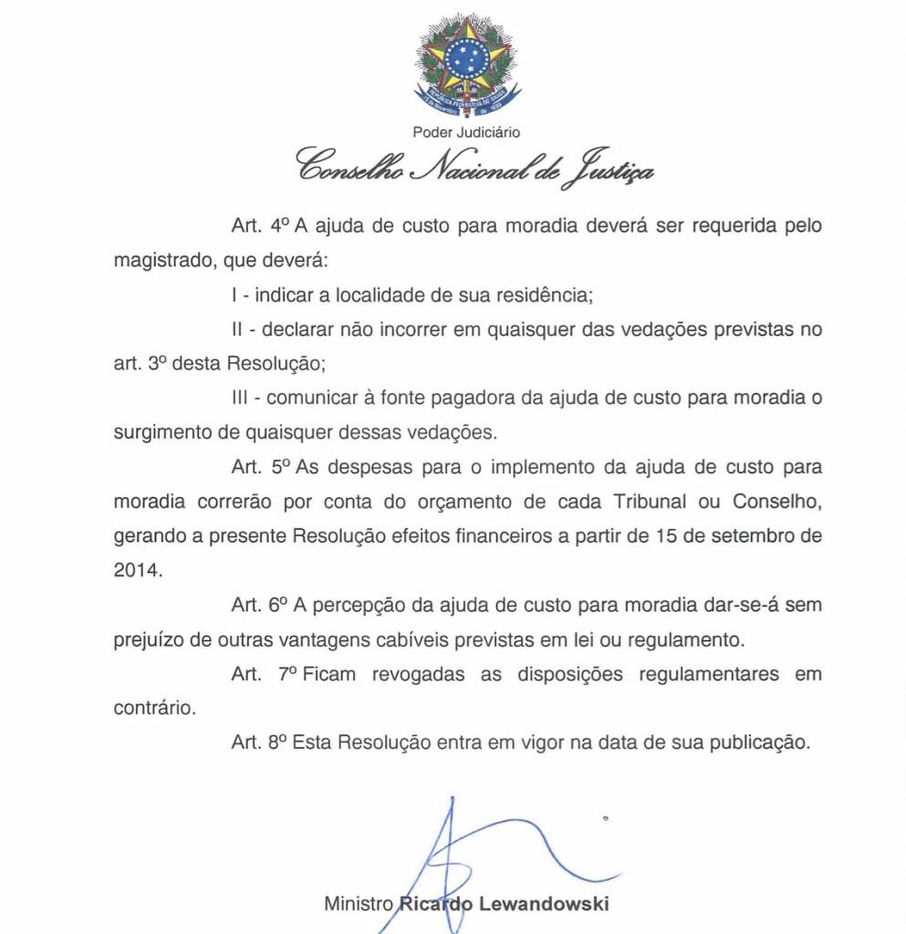 Resolução nº 199/2014 do CNJ: de ato administrativo em ato administrativo, o auxílio-moradia é fundamentado no país