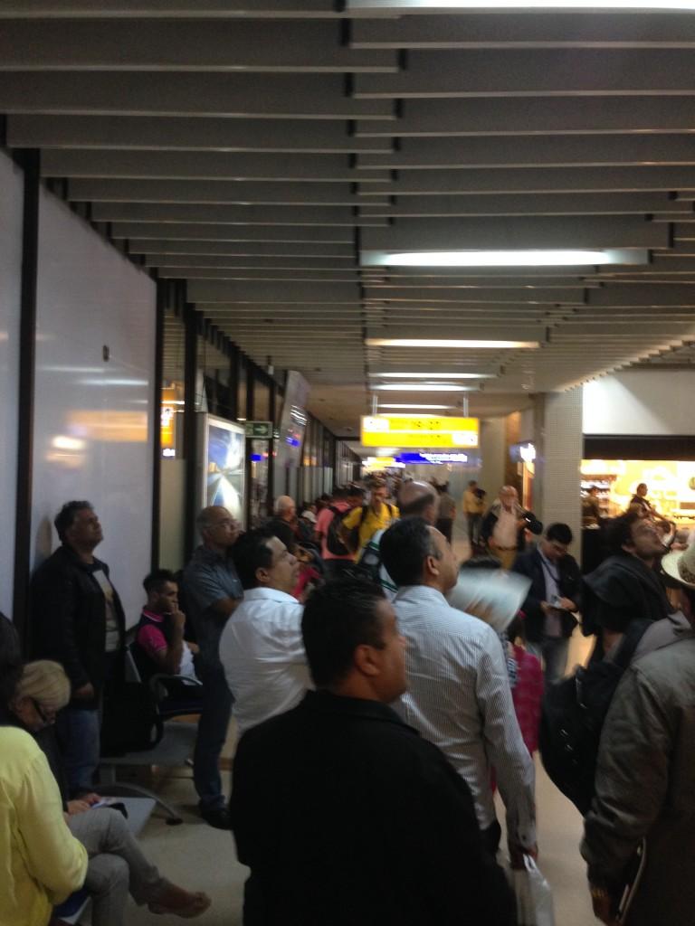 O (ultrapassado) Terminal 2 de Guarulhos, utilizado para voos nacionais