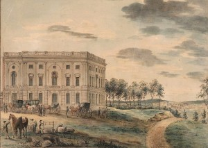 Congresso americano em Washington, em aproximadamente 1800